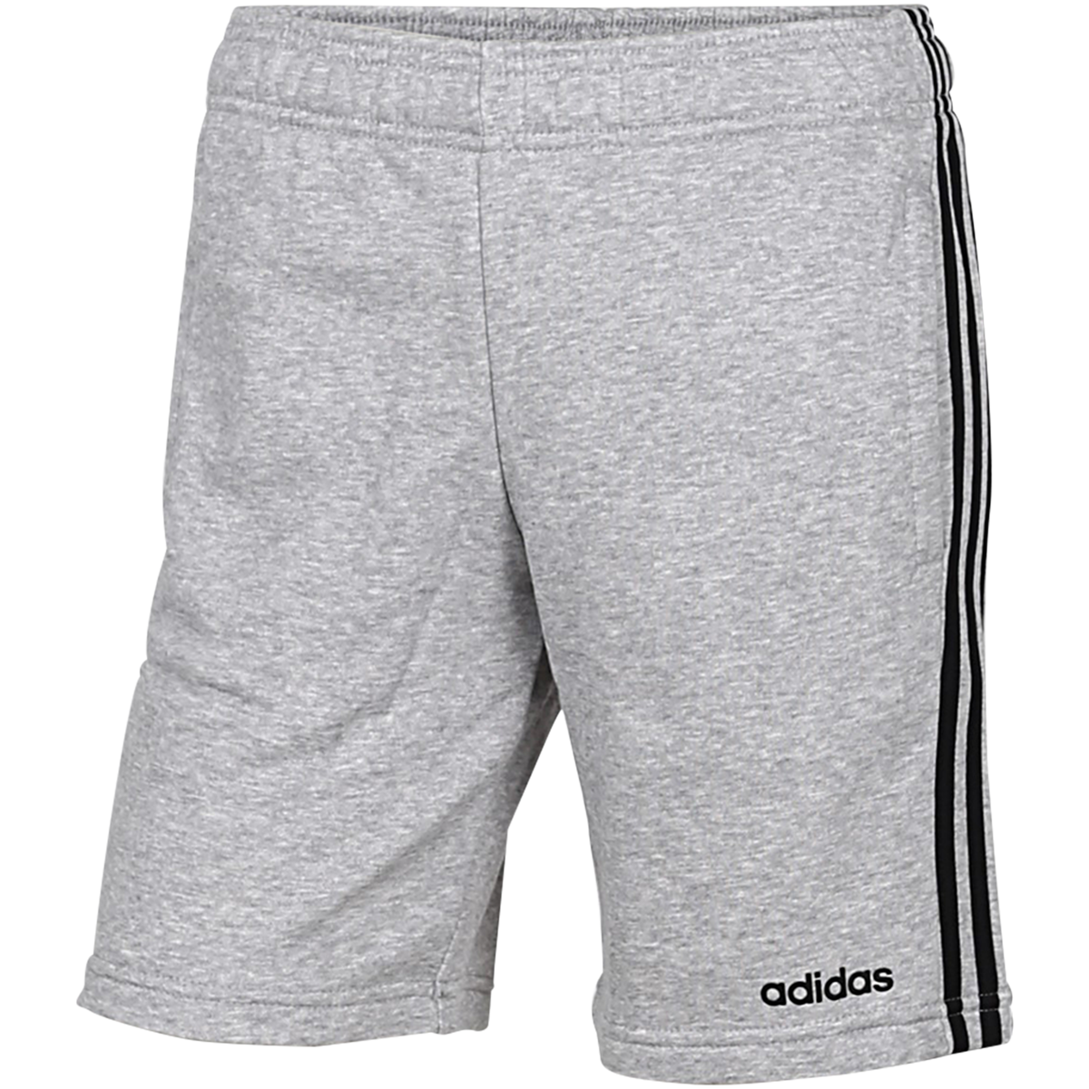 adidas - Essentials 3-Stripes Knit Shorts - Grå