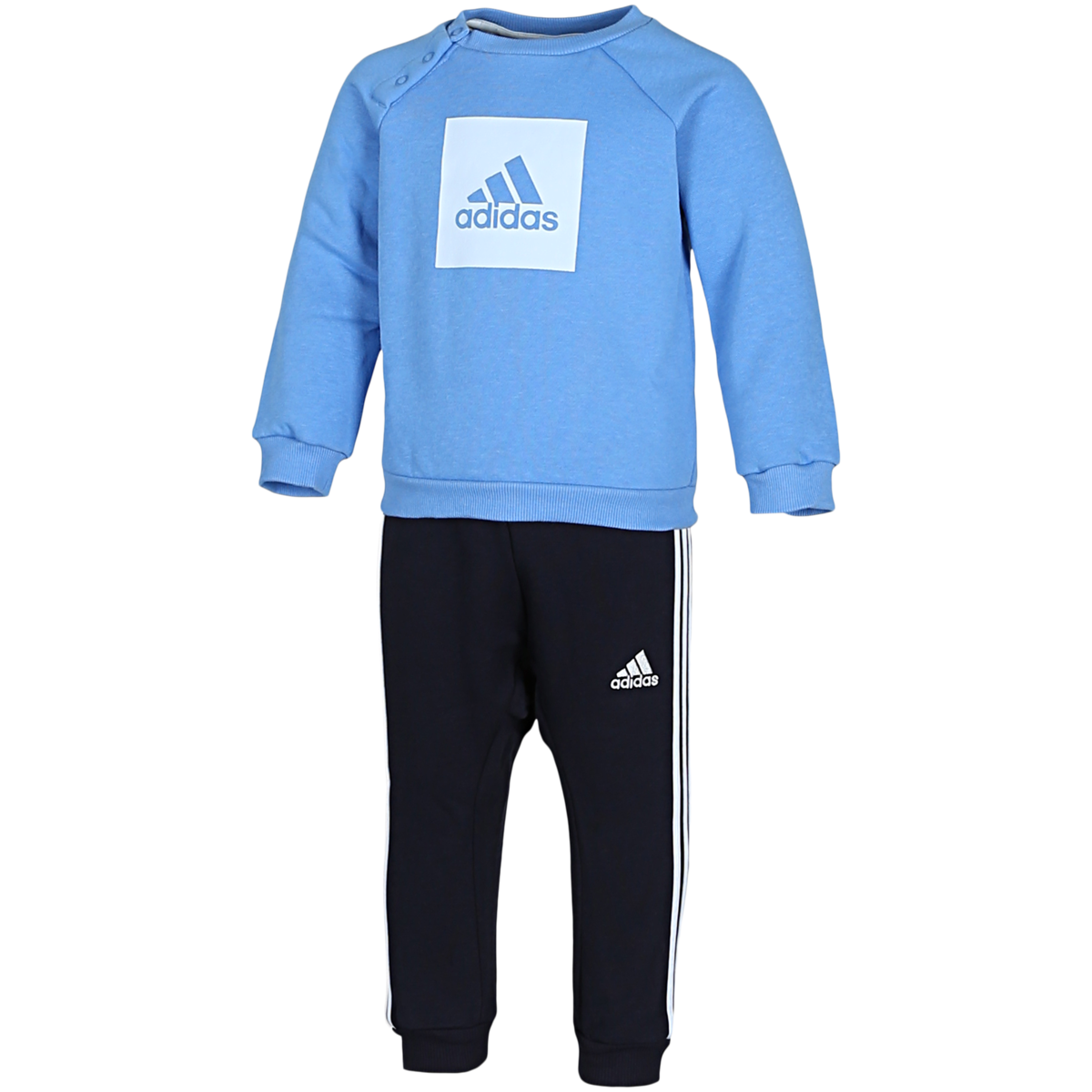 adidas - 3-Stripes Fleece Joggingsæt - Blå