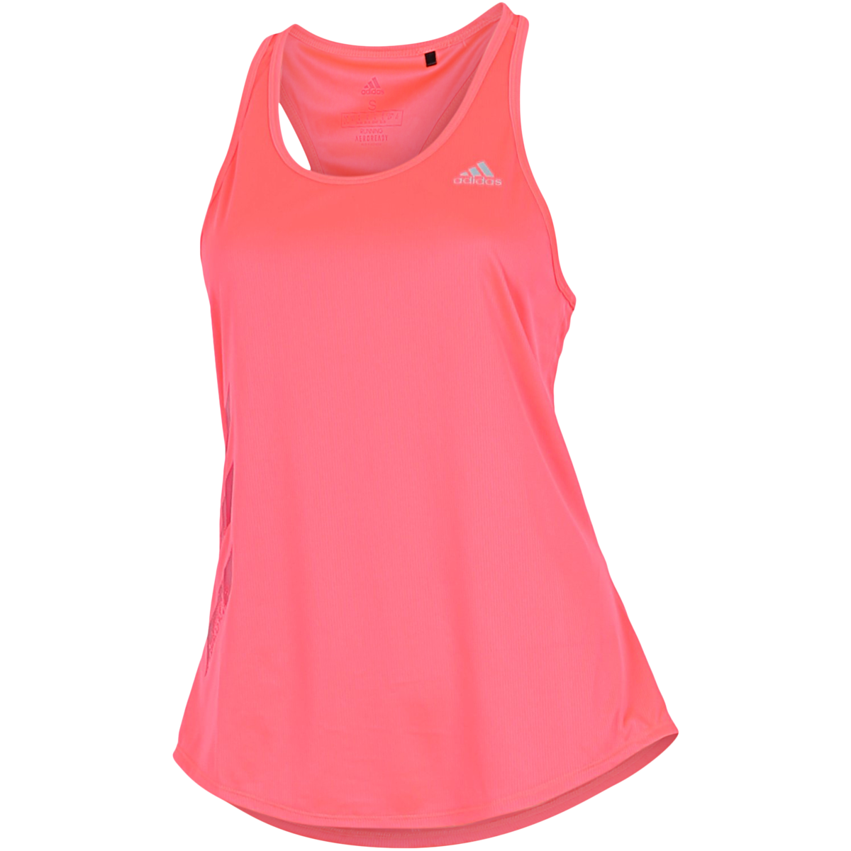 adidas - Own The Run 3-Stripes PB Tank Top - Pink