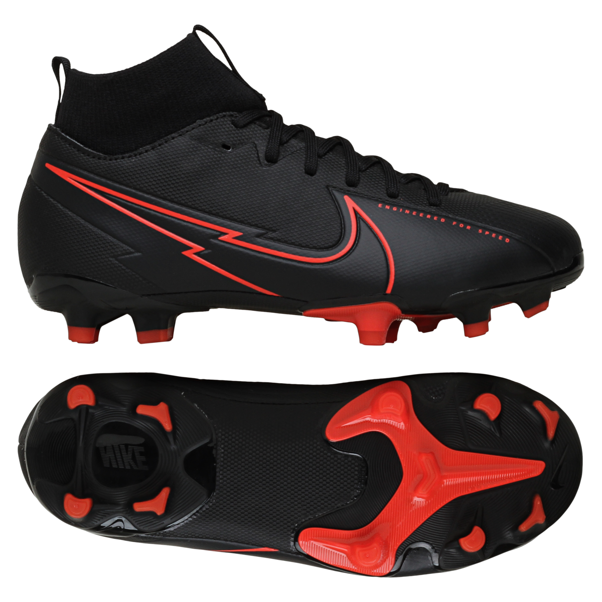 Mercurial Superfly 7 Academy FG/MG Black X Chile Red