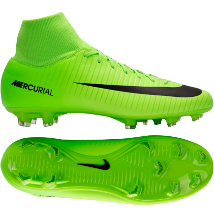 new concept cd9eb 73ea6 Nike-Mercurial Victory VI DF FG Radiation Flare-Electric Green Black-1514526