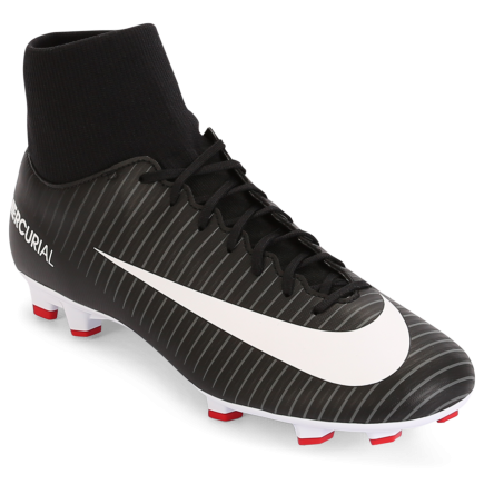 huge selection of 06dcb c2d5b Nike-Mercurial Victory VI DF FG Pitch Dark-Black White-dark Gre