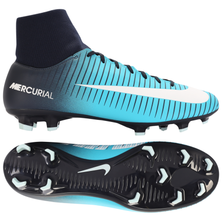 detailed look 8e2a9 7cf3c nike mercurial victory vi df fg play ice obsidian white