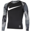 Nike-Pro Hyperwarm T-shirt L/Æ - Børn-Black/Cool Grey/Whit-1483047
