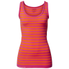 Purelime-Seamless Tank Top - Dame-Orange/Hot Pink-1228266