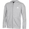 adidas-Must Haves 3-Stripes Full-Zip Hoodie-Mgreyh/White-2113083