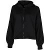 adidas-Gathered Hoodie-Black-2147214