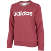 adidas-Essentials Linear Sweatshirt-Legred/White-2174356