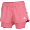 adidas-Pacer 3-Stripes Woven Two-in-One Shorts-Hazros/White-2195128