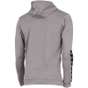 Hummel-Authentic Poly Hoodie-Grey Melange-2143366