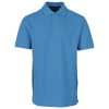 M79-Basic Stretch Pique Polo - Herre-Turquoise-1274977
