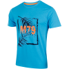 M79-Printed Beach Palm T-shirt-Blue Melange-1492120