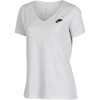 Nike Sportswear-V-Neck T-shirt-Birch Heather/Black-1608891