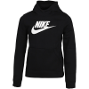 Nike Sportswear-Fleece Hoodie-Black/White-2080211