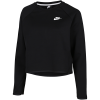 Nike Sportswear-Tech Fleece Woven Crew Top-Black/Black/White-2113851