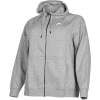 Nike Sportswear-Essential Hoodie (Plus Size)-Dk Grey Heather/Whit-2114331