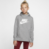 Nike Sportswear-Pullover Hoodie-Carbon Heather/White-2116629