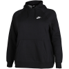 Nike Sportswear-Essential Hoodie (Plus Size)-Black/White-2116736