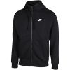 Nike Sportswear-Club Fleece Hoodie-Black/Black/White-2118471