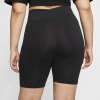 Nike Sportswear-Bike Shorts (Plus Size)-Black/Black/White-2153565