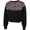 Nike Sportswear-Floral Fleece Crew Sweatshirt-Black/White-2156681