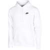 Nike-Club Fleece Hoodie-White/White/Black-1503068