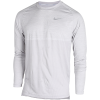 Nike-Dry Medalist Top L/Æ-Atmosphere Grey/Whit-1605659