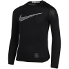 Nike-Pro Compression Top L/Æ-Black/Black/White-2061981