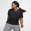 Nike-Pro Mesh T-shirt (Plus Size)-Black/White-2079708