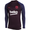 Nike-FC Barcelona Dry Strike Drill Top 2019/20-Burgundy Ash/Burgund-2114054