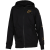 Nike-Air Full-Zip Fleece Hoodie-Black/Metallic Gold-2114188