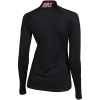 Nike-Pro Warm Half-Zip Compression Top L/Æ-Black/Thunder Grey-2132756