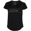 Nike-Feminina T-shirt-Black/Metallic Gold-2132782