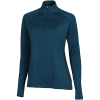 Nike-Pro Warm Half-Zip Compression Top L/Æ-Midnight Turq/Black-2132863