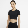 Nike-Pro AeroAdapt Crop Top-Black/Black/Metallic-2152278