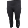 Nike-One Cropped Tights (Plus Size)-Black/White-2152495