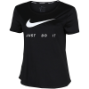 Nike-Essential Swoosh T-shirt-Black/Reflective Sil-2155065