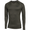 Nike-Pro Compression Top L/Æ-Cargo Khaki/Black-2156487