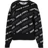 Nike-Pro Fleece Crew Sweatshirt-Black/Metallic Silve-2158654