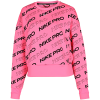 Nike-Pro Fleece Crew Sweatshirt-Digital Pink/Metalli-2158655