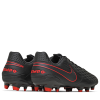 Nike-Tiempo Legend 8 Academy FG/MG Black X Chile Red-Black/Dk Smoke Grey--2180024