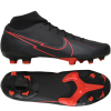 Nike-Mercurial Superfly 7 Academy FG/MG Black X Chile Red-Black/Black-dk Smoke-2180080