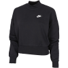 Nike-Essential High-Neck Sweatshirt-Black/White-2182814
