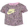 Nike-Print Crop T-shirt-Pink Rise/Limelight-2188788