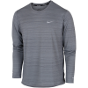 Nike-Dri-FIT Miler T-shirt L/Æ-Smoke Grey/Reflectiv-2201565