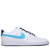 Nike-Court Vision Low NBA-White/Turquoise Blue-2245641